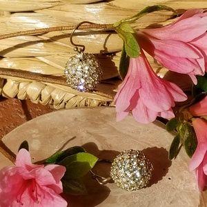 Heavy ball drop earrings